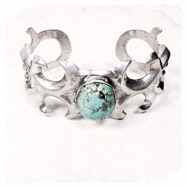 Nakoma Vintage Sterling Turquoise Cuff - Soul Of The Rose®