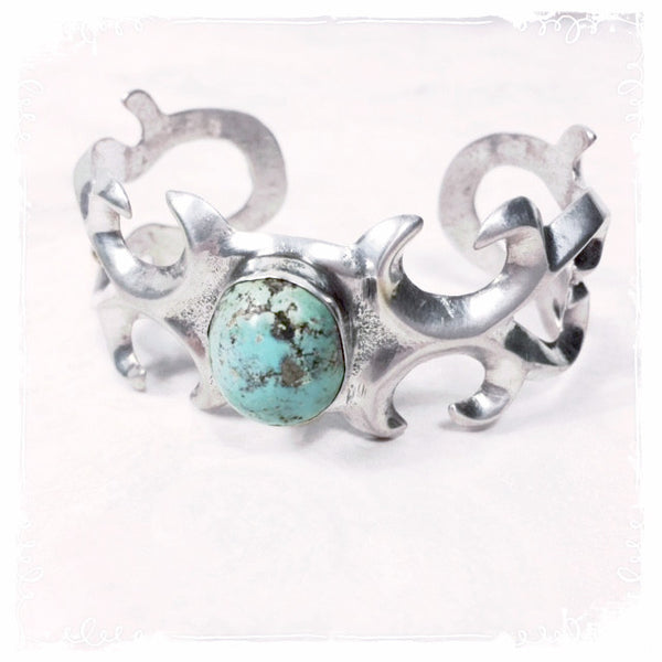 Nakoma Vintage Sterling Turquoise Cuff