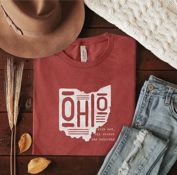 Ohio With GOD All Things Are Possible Tee