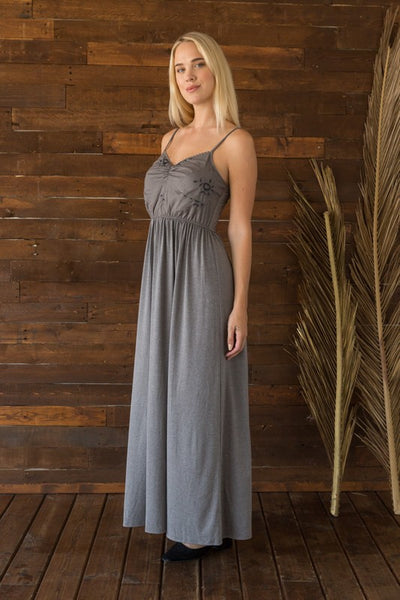 Jessa Embroidered Maxi Dress