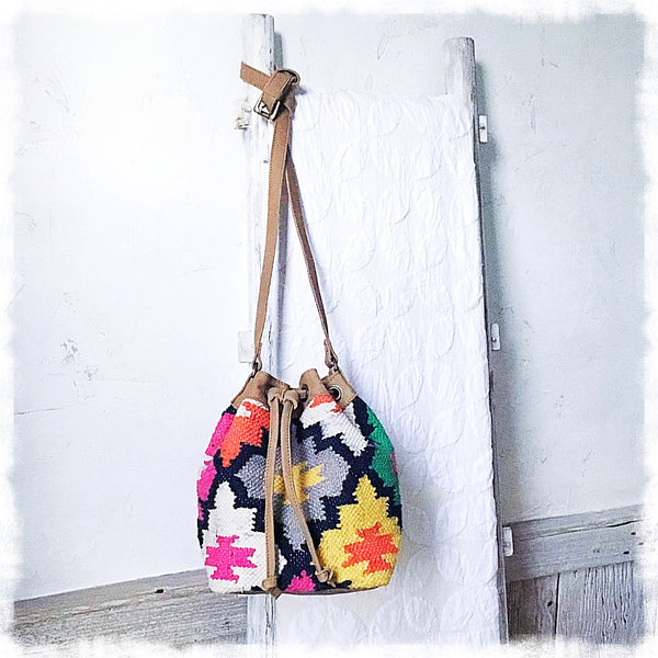 Solana Kilim Drawstring Bag - Soul Of The Rose®