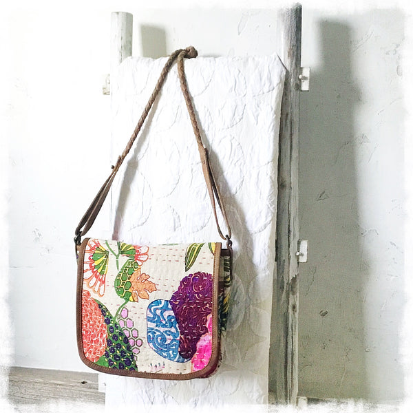 Thalia Kantha Quilted Crossbody Bag - Soul Of The Rose®