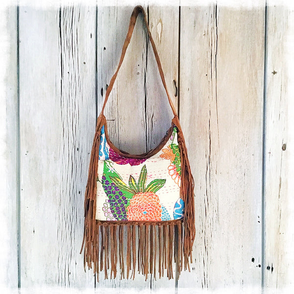 Thalia Kantha Fringe Bag - Soul Of The Rose®