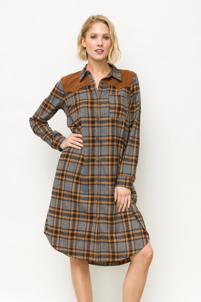 Twyla Long Shirt Dress