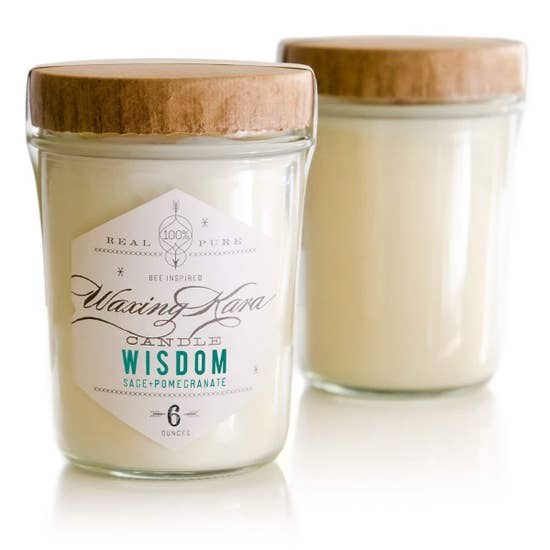 Wisdom Sage + Pomegranate Soy Candle by Waxing Kara