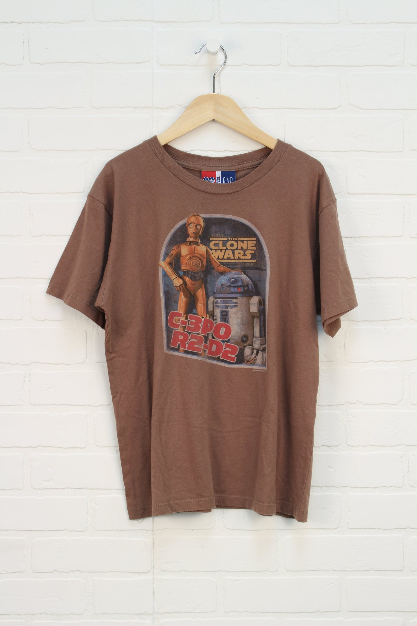 Brown Graphic T-Shirt: Clone Wars (Size XXL/14-16)