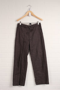 Brown Tweed Dress Pants (Size 10)