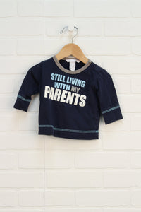 Organic Navy Graphic T-Shirt (Size 68/4-6M)