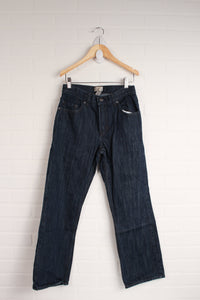 Dark Wash Straight Leg Jeans (Size 12)