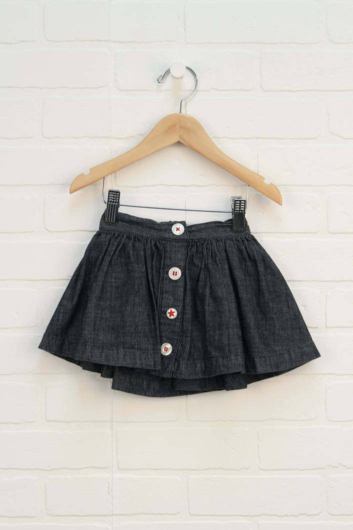 Dark Wash Skort (Size 1/12M) *STAFF PICK*