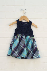 Navy + Turquoise Dress (Size 12-18M)