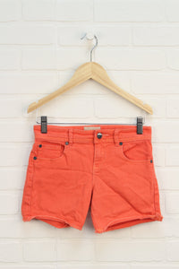 Coral Denim Shorts (Size 12)