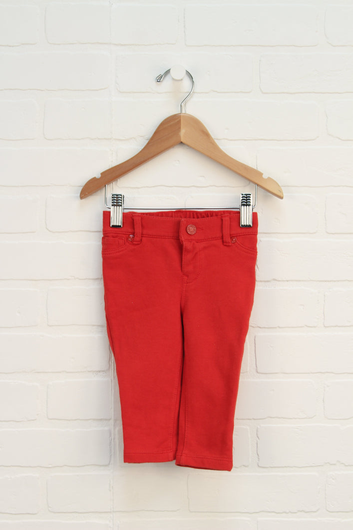 Red Jeggings (Size 6-12M)
