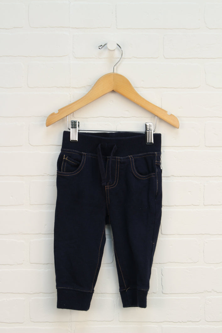 French Terry Denim Look Joggers (Size 12-18M)