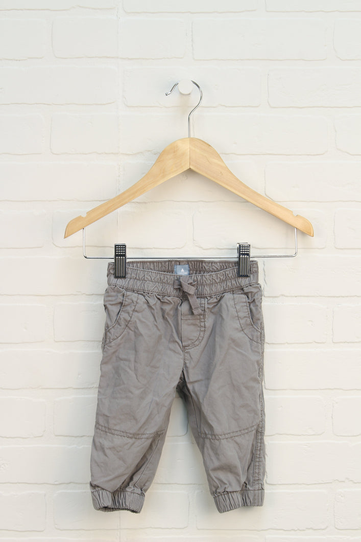 Grey Jersey Lined Soft Waist Pants (Size 6-12M)