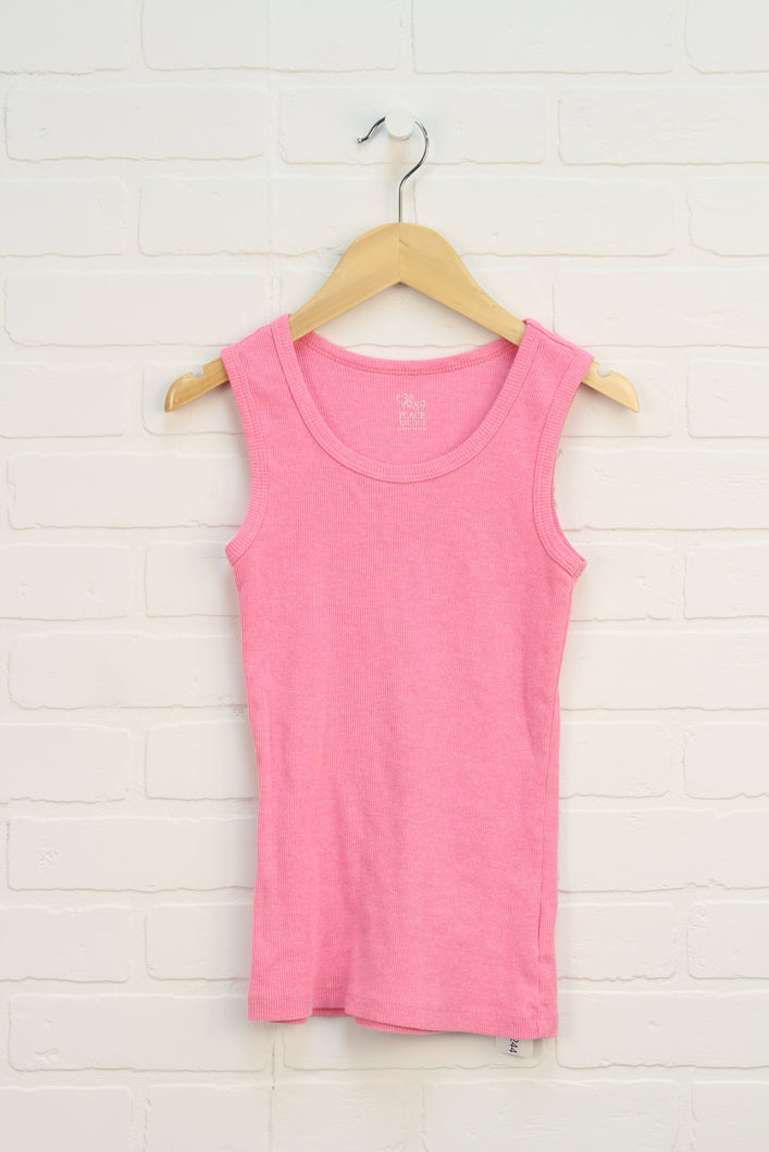 Hot Pink Ribbed Tank (Size L/10-12)