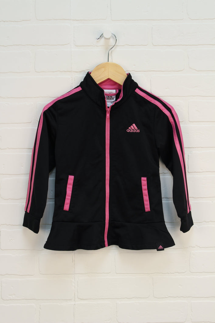 Black + Pink Athletic Jacket (Size 4T)