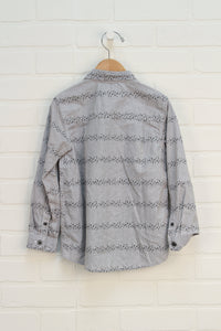 Grey Graphic Button Up (Size 5T)