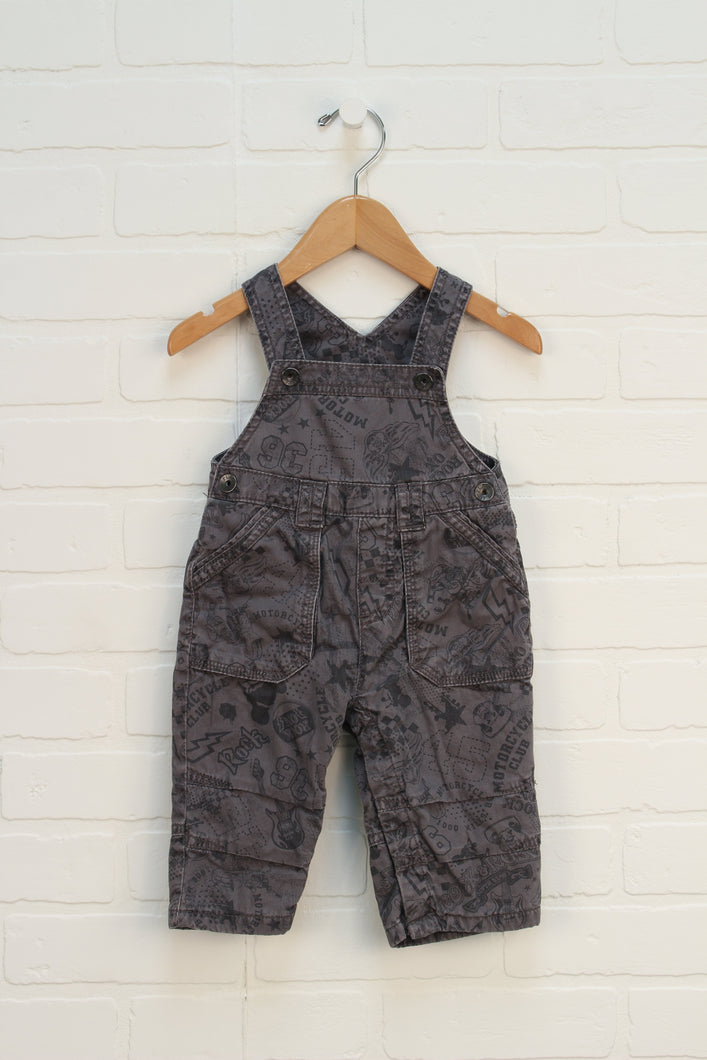 Putty Graphic Overalls (Size 6-9M)