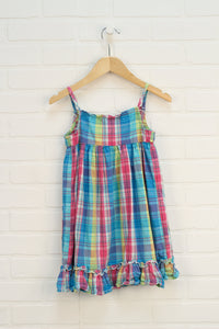 Pink + Blue Smocked Sundress (Estimated Size 5)