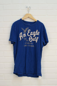 Blue Graphic T-Shirt (Men's Size S)