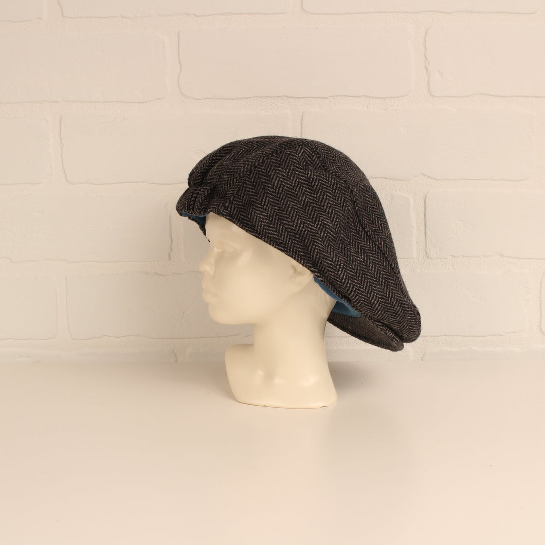 Salt + Pepper Tweed Newsie Cap (O/S Toddler)
