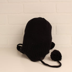 "Black ""Maple Leafs"" Winter Hat (O/S Adult)"