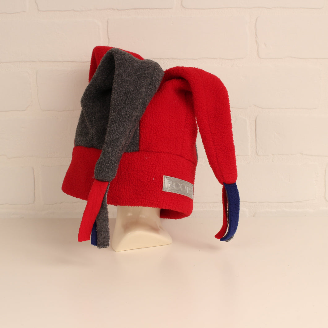 Grey + Red Fleece Jester Hat (O/S Kids)