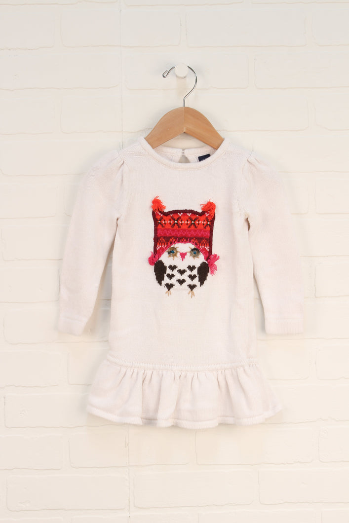 White Sweater Dress (Size 12-18M)