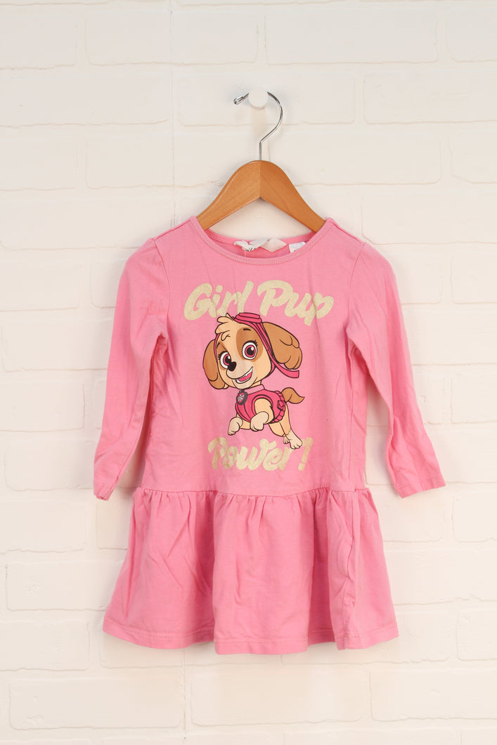 Pink Graphic Dress: Paw Patrol (Size 92/18-24M)