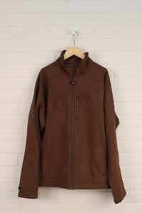Brown Fleece Lined Jacket (Women's Size L)