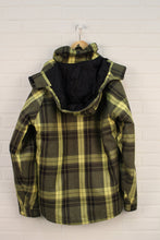 Yellow + Black Plaid Winter Coat (Men's Size S)
