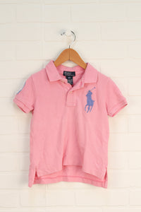 Pink Polo (Size 2/2T)