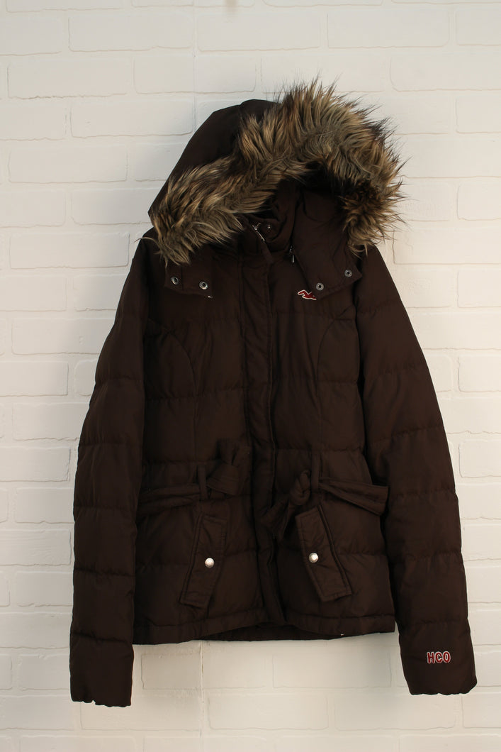 Brown Puffer Coat (Women's Size S)