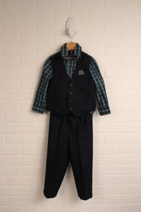 OUTFIT: Navy + Green Formal Set (Size 3T)