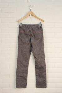 Putty Embroidered Jeans (Size 10)