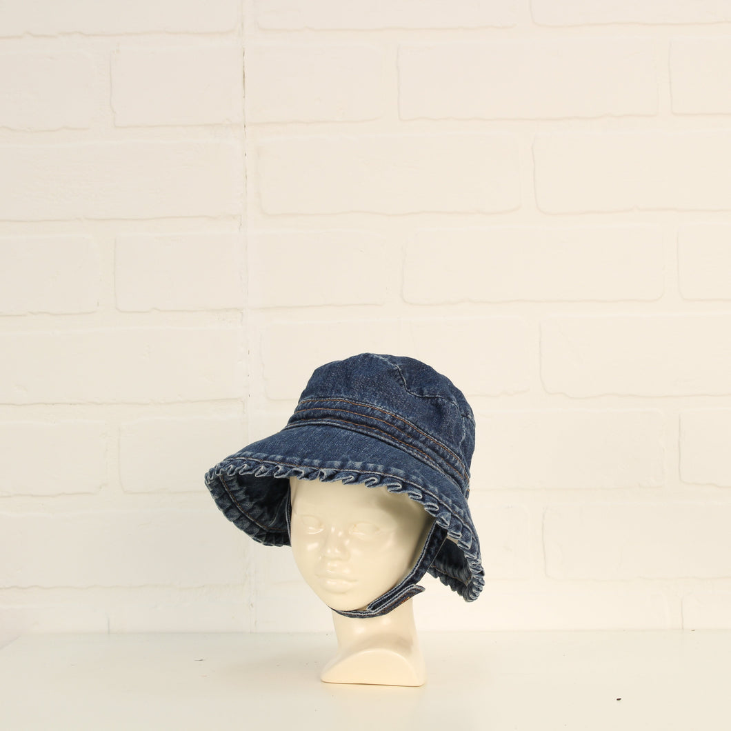 Jersey LIned Denim Bucket Hat (Size 0-3M)