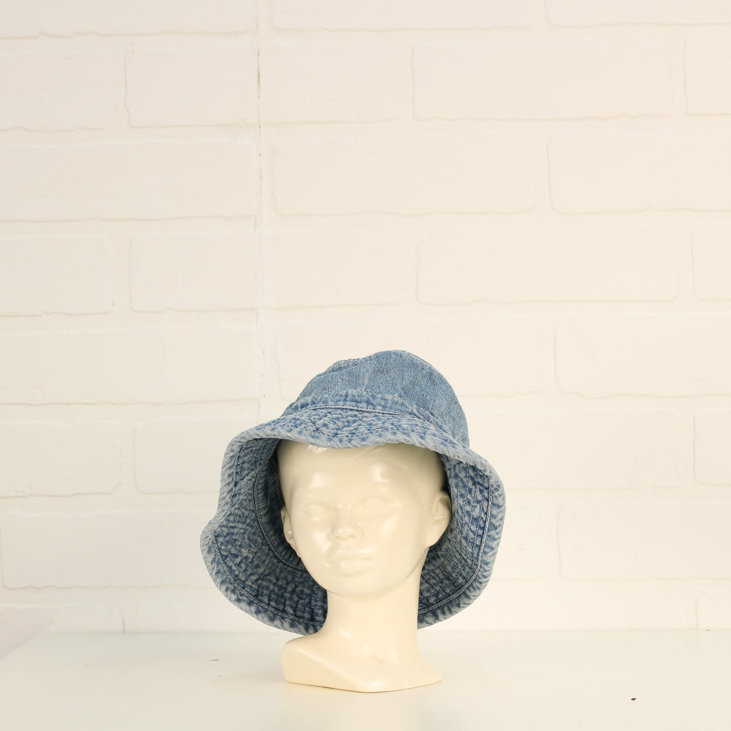Vintage Wash Denim Bucket Hat (Size 0-6M)