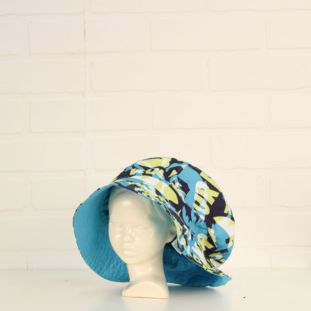 Blue + Chartreuse Bucket Hat (Size 8-12)