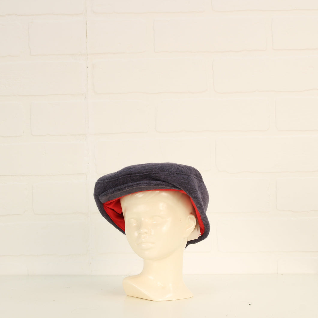 Heathered Blue Flat Cap (Size 0-12M)