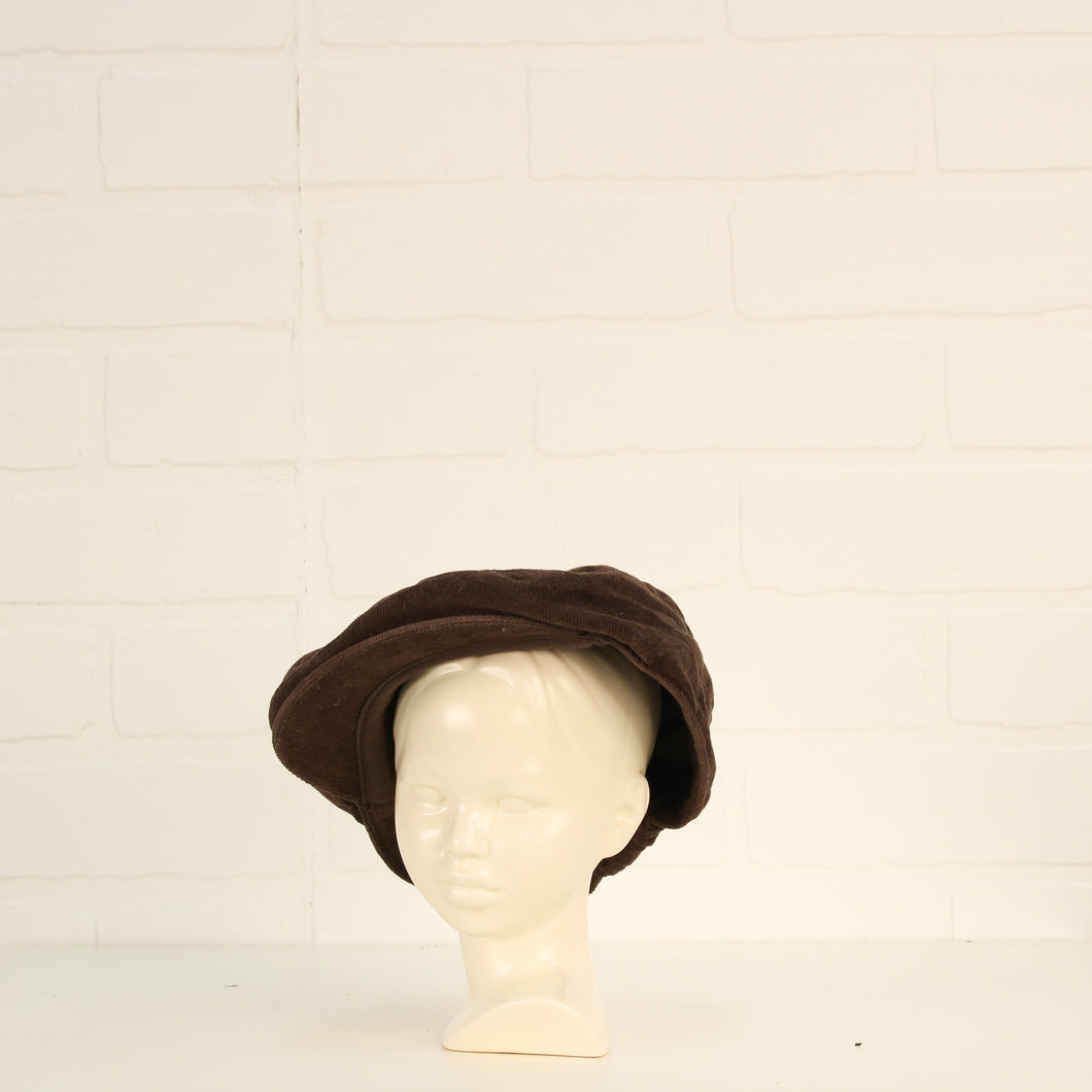 Brown Corduroy Flat Cap (O/S Infant - Toddler)