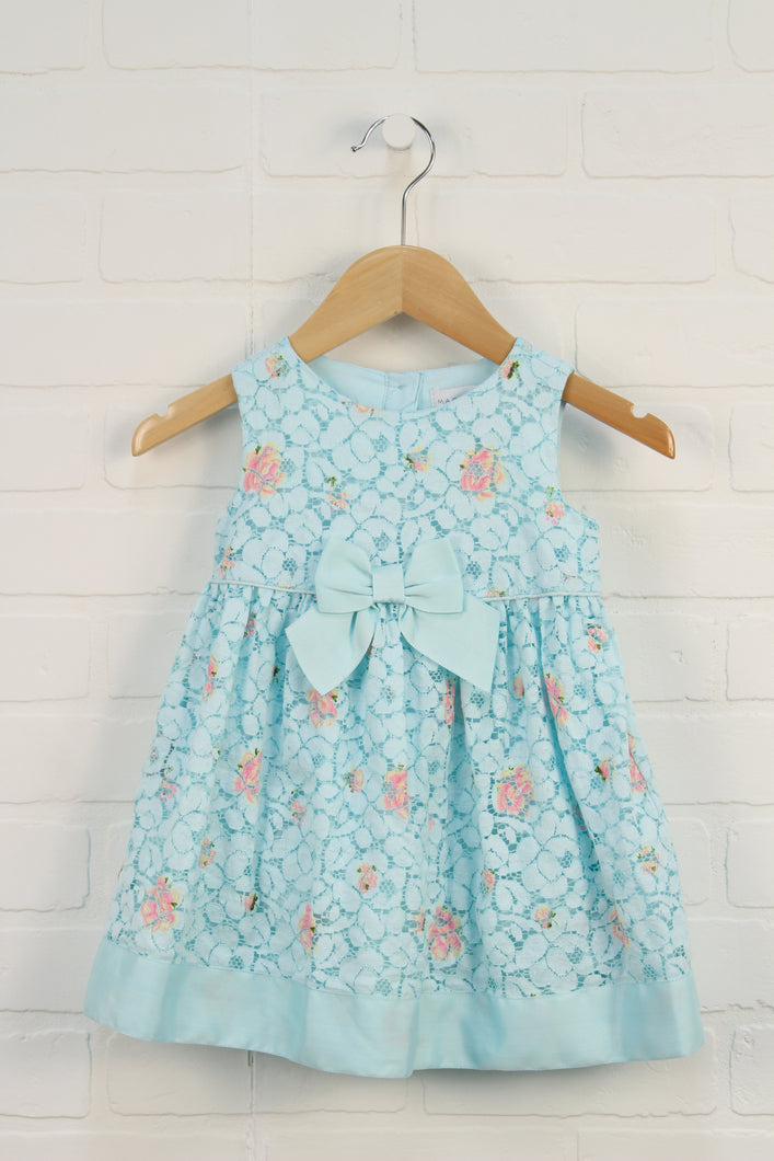 Turquoise Lace Overlay Party Dress (Size 18M)