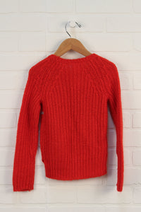 Red Hi-Low Sweater (Size 4T)