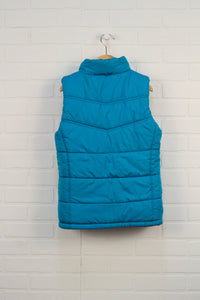 Turquoise + Magenta Reversible Puffer Vest (Size M/10-12)