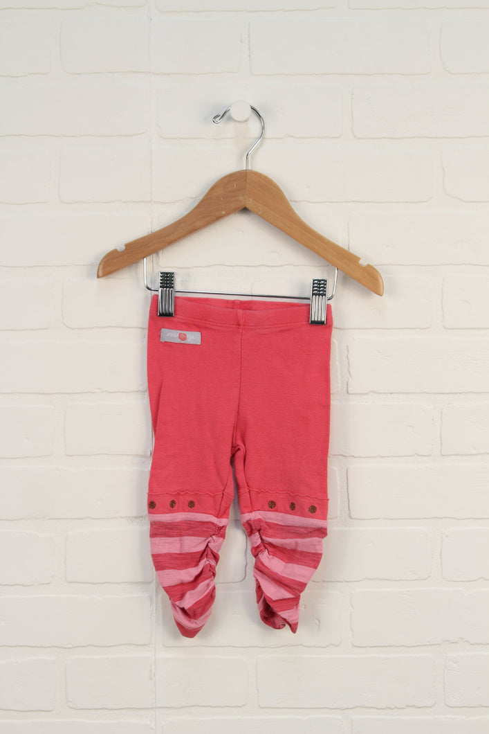 Hot Pink Ruched Leggings (Size 6-12M)