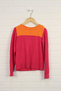 Hot Pink + Tangerine Sweater (Size L/10)