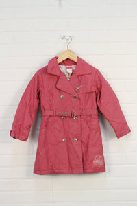 Rose Trench Coat (Size 5)
