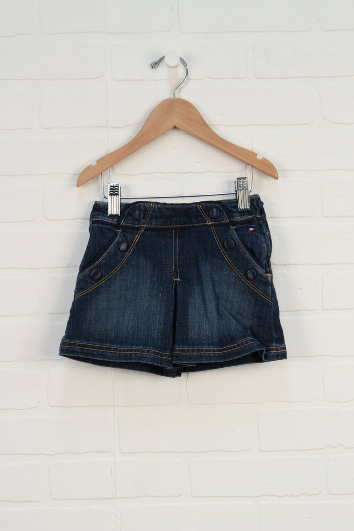 Vintage Wash Denim Skirt (Size 2T) *STAFF PICK*
