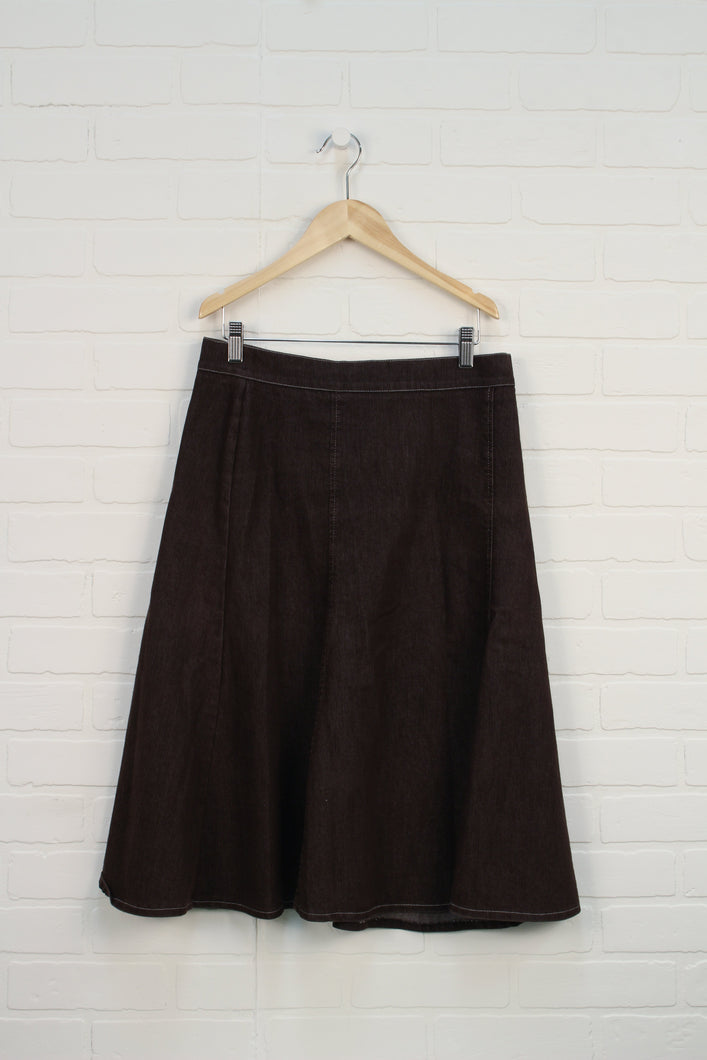 Brown Denim Skirt (Women's Size 6)