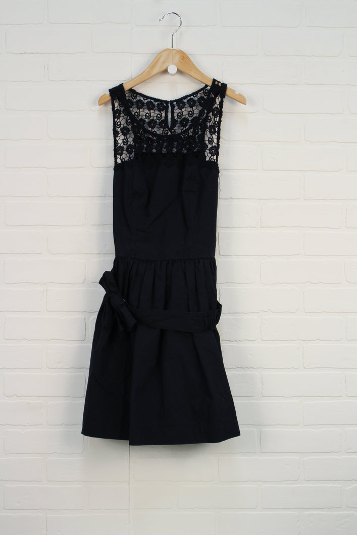 NWT Navy Belted Dress (Women's Size S)